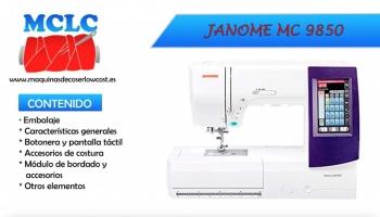 Unboxing Y Explicación De La Máquina De Coser JANOME MC9850